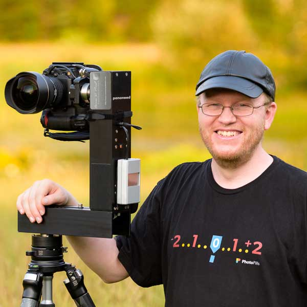 Portrait photo of Aaron Priest, a VAST photographer artist creating very high resolution fine art panorama photos of landscapes in Maine and New England