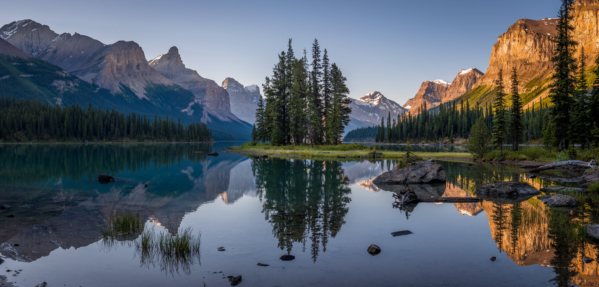 90 megapixels! A very high resolution, large-format VAST photo print of Maligne Lake, Jasper National Park, Canada; nature landscape photo created by Tim Shields