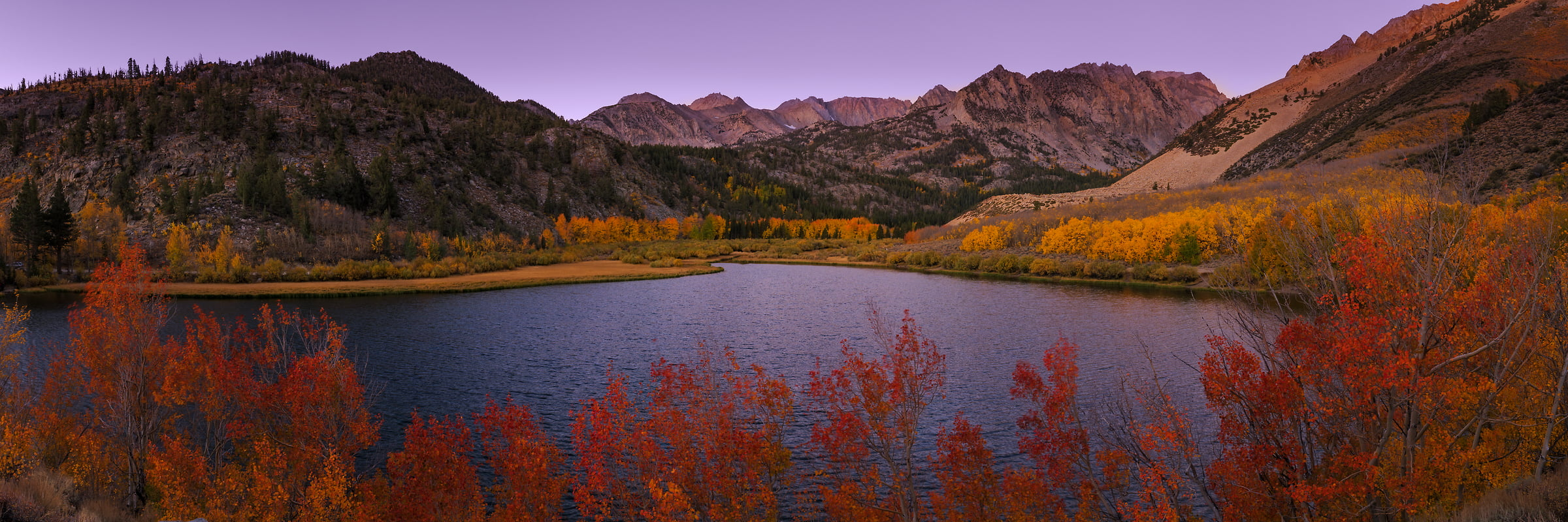 150 megapixels! A very high resolution, large-format VAST photo print of North Lake in the Sierra Nevada Mountains, California in Autumn; nature landscape photo created by Guido Brandt