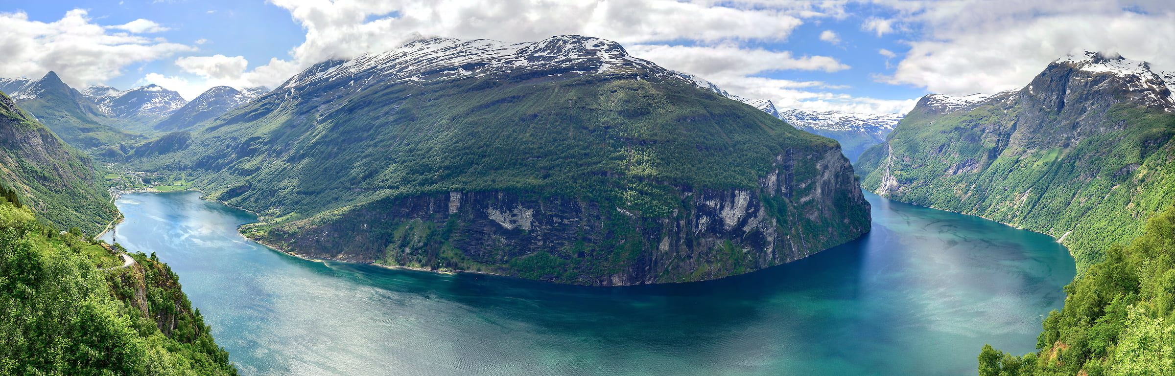 386 megapixels! A very high quality, large-format landscape photo of the fjords and mountains in Norway; VAST photo print created by Justin Katz