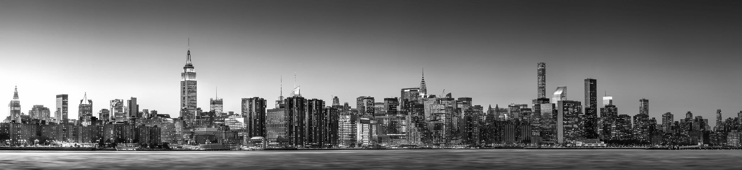 1,541 megapixels! The highest resolution cityscape VAST photo of the Midtown Manhattan city skyline in the evening sunset in New York City; created by Dan Piech