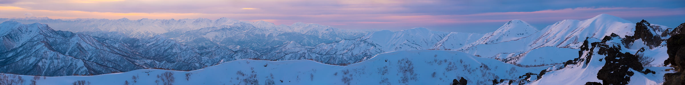 Thumbnail from 253 megapixels! A very high resolution, large-format VAST photo print of mountains in Myoko Kogen Ski Resort, Japan; fine art landscape photo created by Scott Rinckenberger
