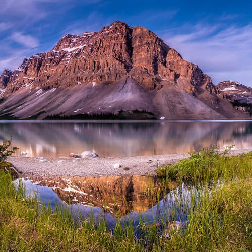"Photo Release: ""Bow Lake Reflection"" by Tim Shields"