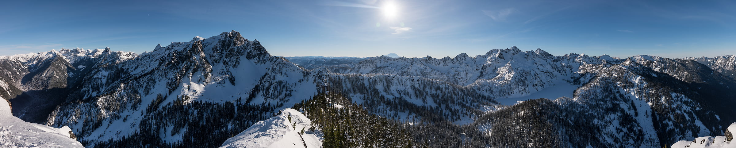225 megapixels! An extremely high resolution, large-format VAST photo print of the Cascade Mountains from Avalanche Mountain in Snoqualmie Pass; fine art panorama landscape photo created by Scott Rinckenberger in Washington, USA