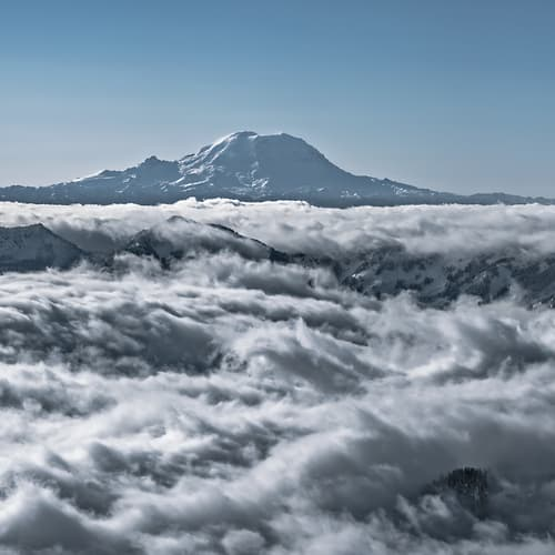"Photo Release: ""Mount Rainier Above a Sea of Clouds"" by Scott Rinckenberger"