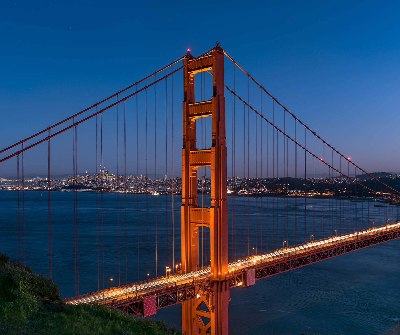 256 megapixels! A very high resolution, large-format VAST photo print of the Golden Gate Bridge, San Francisco, and the San Francisco Bay; cityscape fine art photo created by Justin Katz from Battery Spencer in Sausalito, California