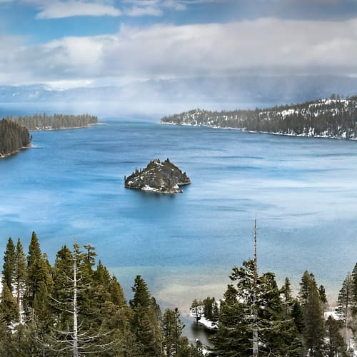 "Photo Release: ""Emerald Bay, Lake Tahoe in Winter"" by Justin Katz"