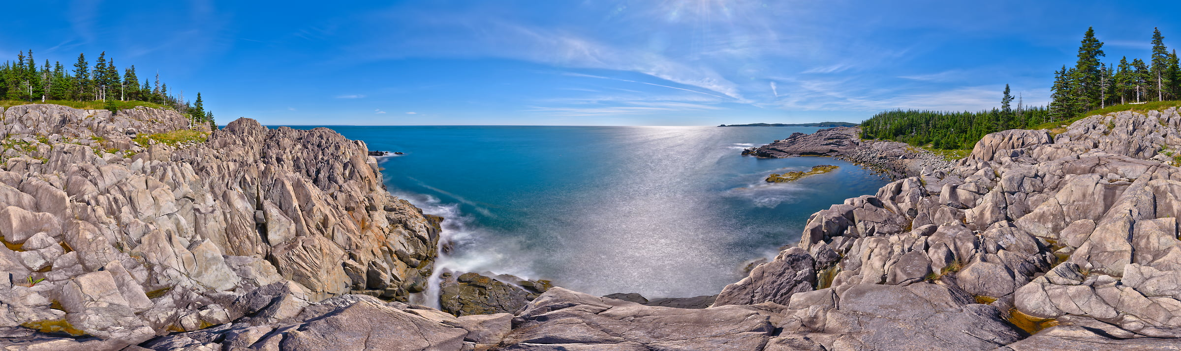 433 megapixels! A very high resolution, large-format VAST photo of the Bold Coast of Maine in New England; fine art landscape panorama photograph created by Aaron Priest in Cutler, Maine