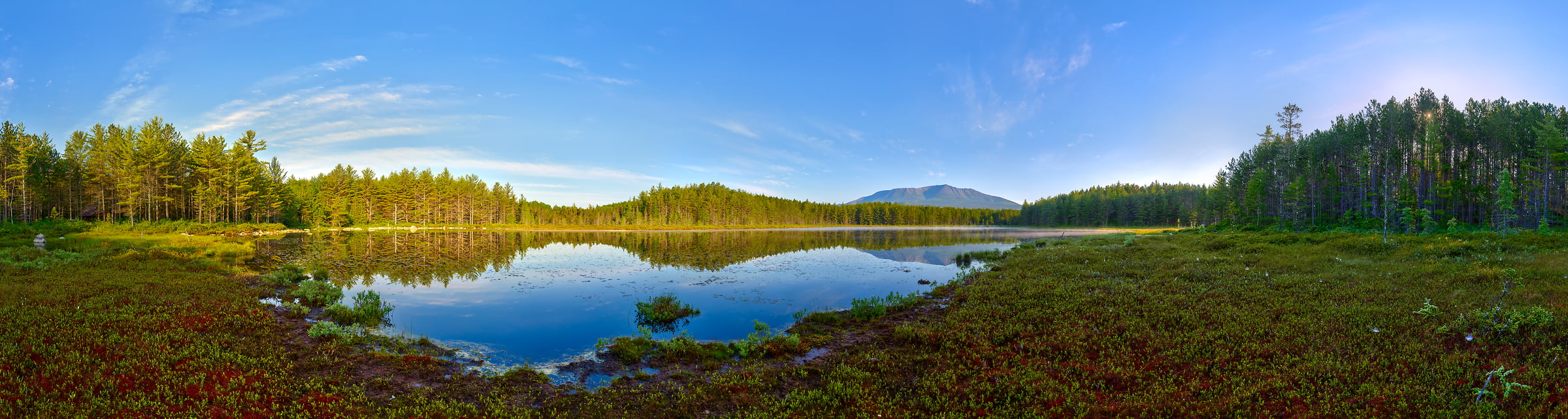 494 megapixels! A very high resolution, large-format VAST photo of Mt. Katahdin and Sunday Pond; fine art landscape photograph created by Aaron Priest in Baxter State Park, Maine