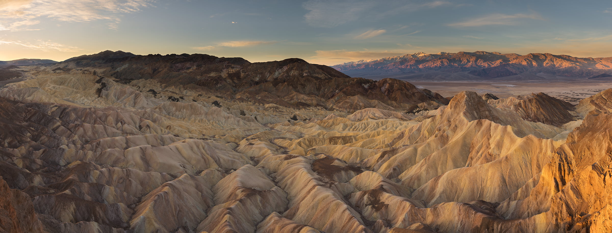 1,245 megapixels! A very high resolution, large-format VAST photo print of Death Valley from Zabriskie Point; fine art landscape photo created by Guido Brandt in Death Valley National Park, California