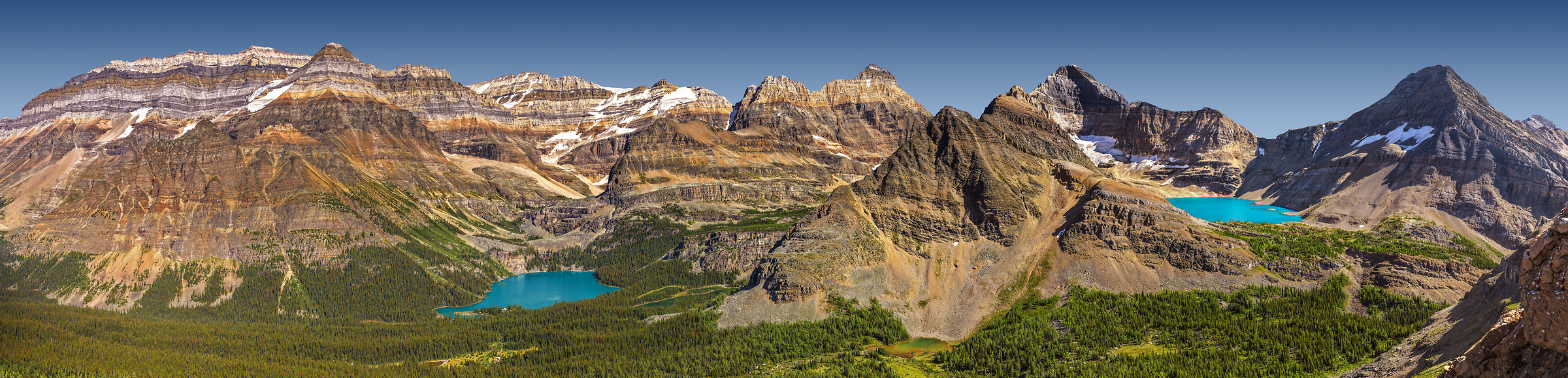 A very high resolution, large-format VAST photo print of mountains and lakes; fine art landscape photo created by Chris Collacott in Yoho National Park, British Columbia, Canada