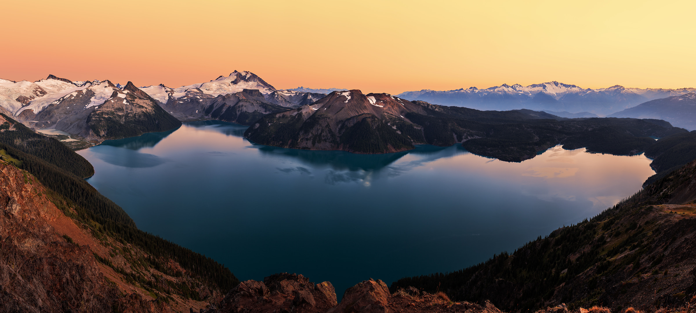 315 megapixels! A very high resolution, large-format VAST photo print of mountains, lakes, and Garibaldi Lake; fine art landscape photo created by Chris Collacott in Garibaldi Provincial Park, British Columbia, Canada