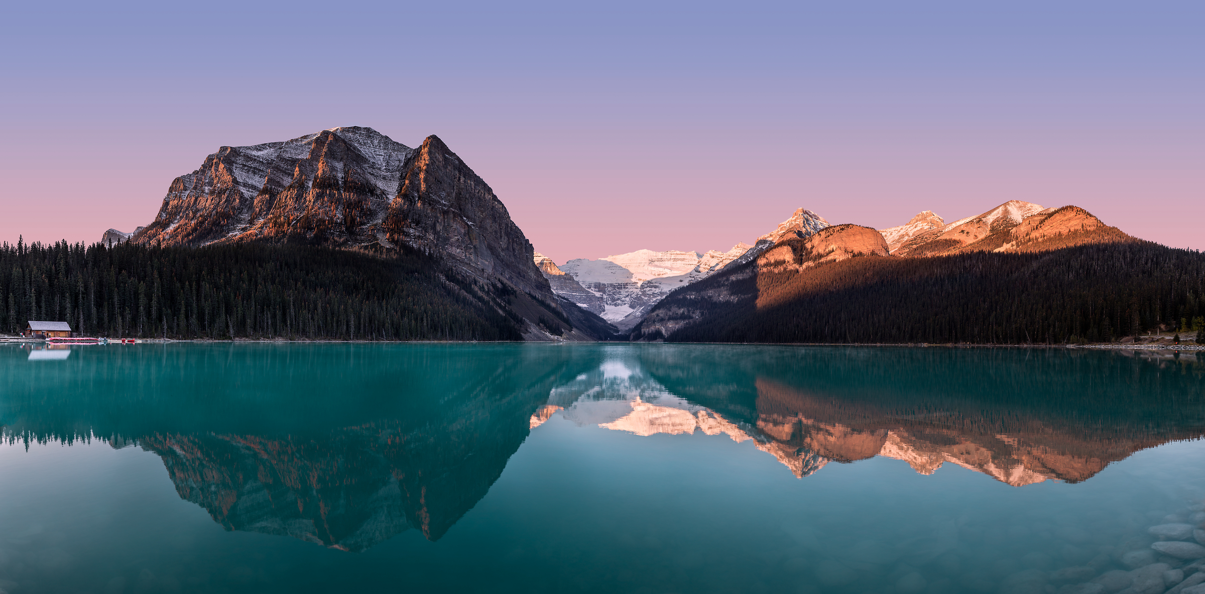509 megapixels! A very high resolution, large-format VAST photo print of mountains and lakes, and Lake Louise; fine art landscape photo created by Chris Collacott in Banff National Park, Alberta, Canada