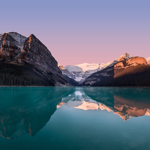 Thumbnail from A very high resolution, large-format VAST photo print of mountains and lakes, and Lake Louise; fine art landscape photo created by Chris Collacott in Banff National Park, Alberta, Canada