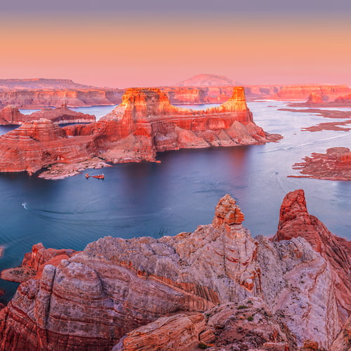 Thumbnail from A very high resolution, large-format VAST photo print of Lake Powell; fine art landscape photo created by Chris Collacott in Glen Canyon National Recreational Area, Utah
