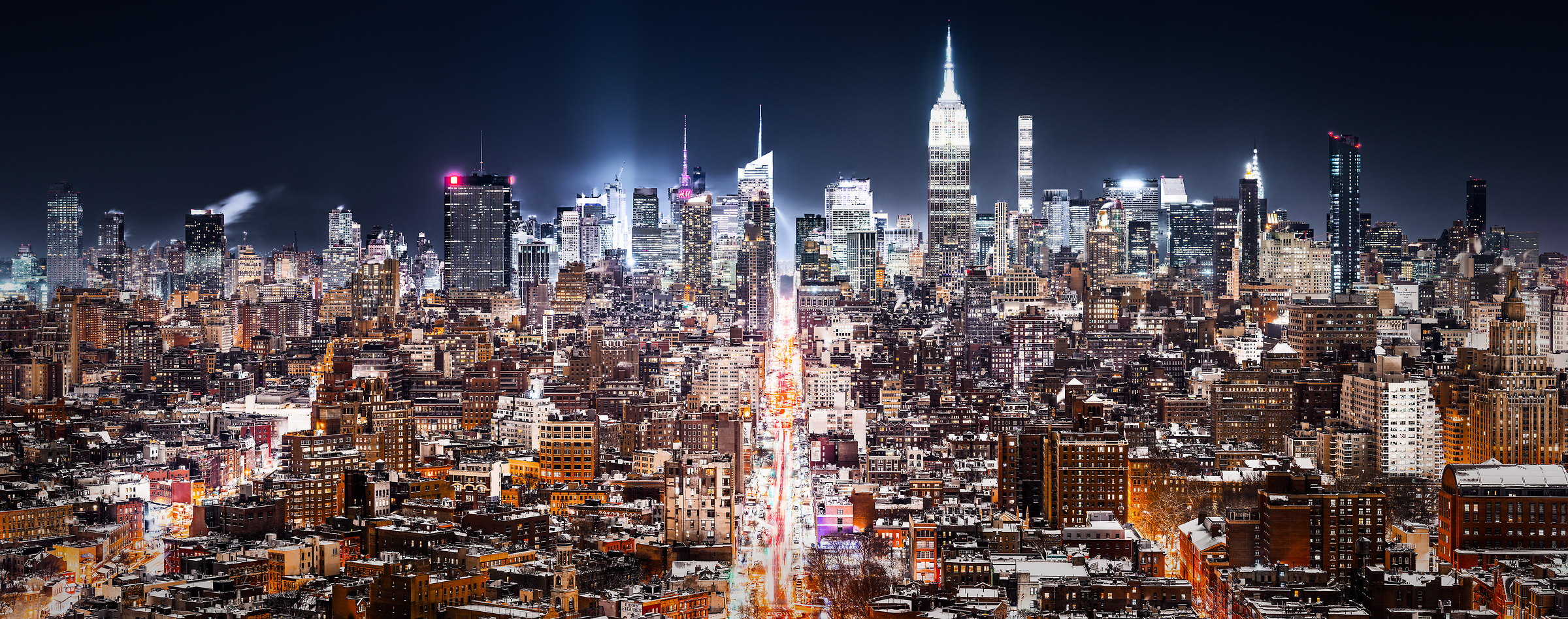 photos of new york city at night fine art prints vast. Black Bedroom Furniture Sets. Home Design Ideas
