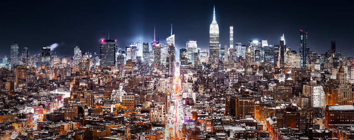 Nyc night skyline photos high res large format prints vast a very high resolution large format vast photo print of new voltagebd Image collections