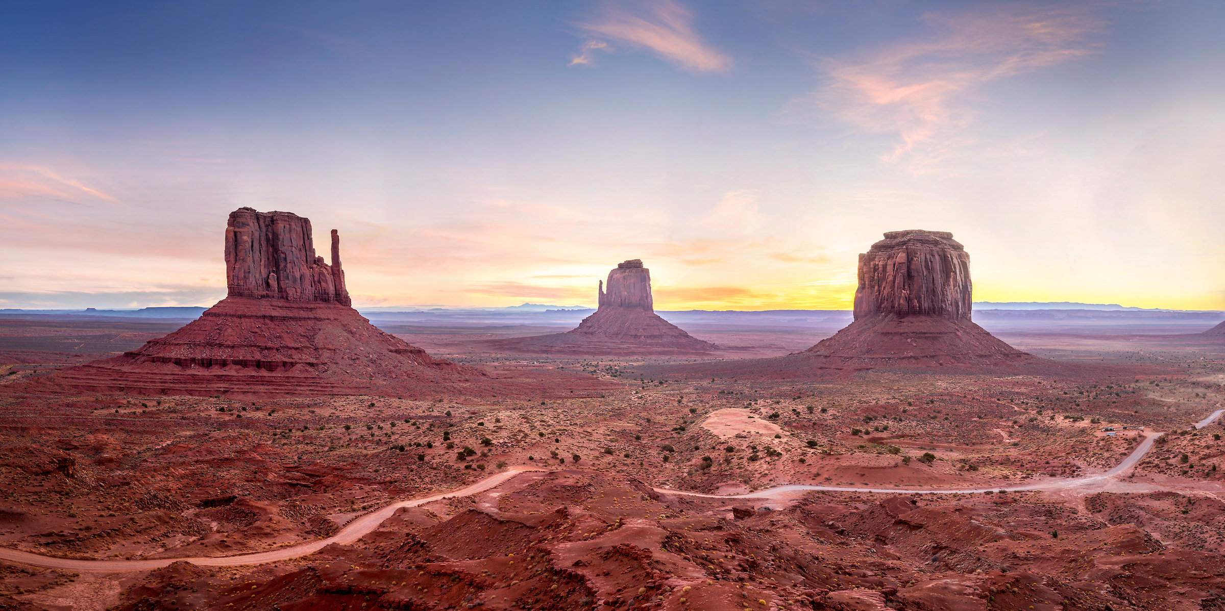 345 megapixels! A very high resolution, large-format VAST photo print of an American landscape scene from the western USA; photo created by Justin Katz in Monument Valley, Utah and Arizona