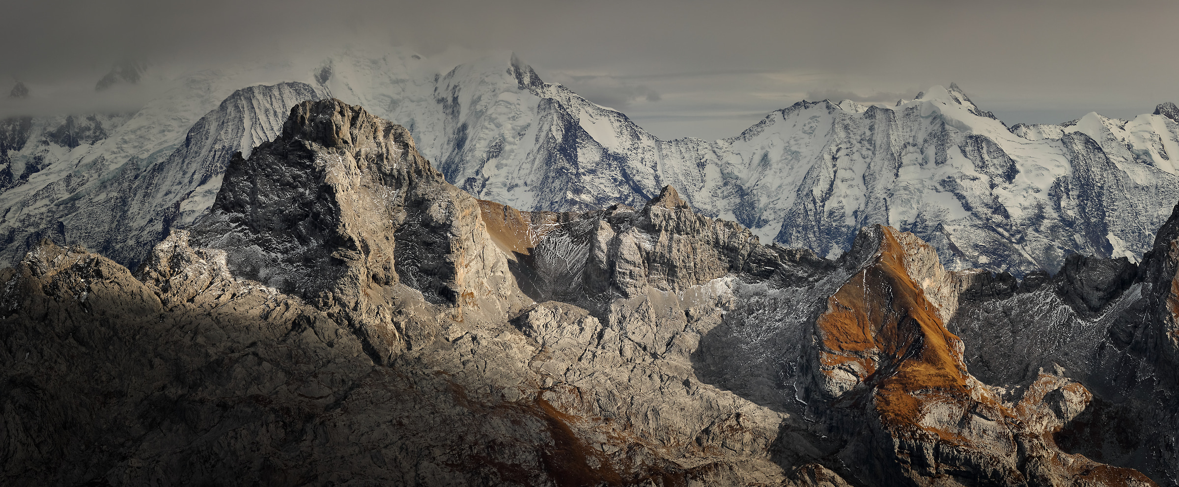 111 megapixels! A very high resolution, large-format VAST photo of mountains in France; created by Alexandre Deschaumes in Jallouvre Summit, Haute Savoie, France