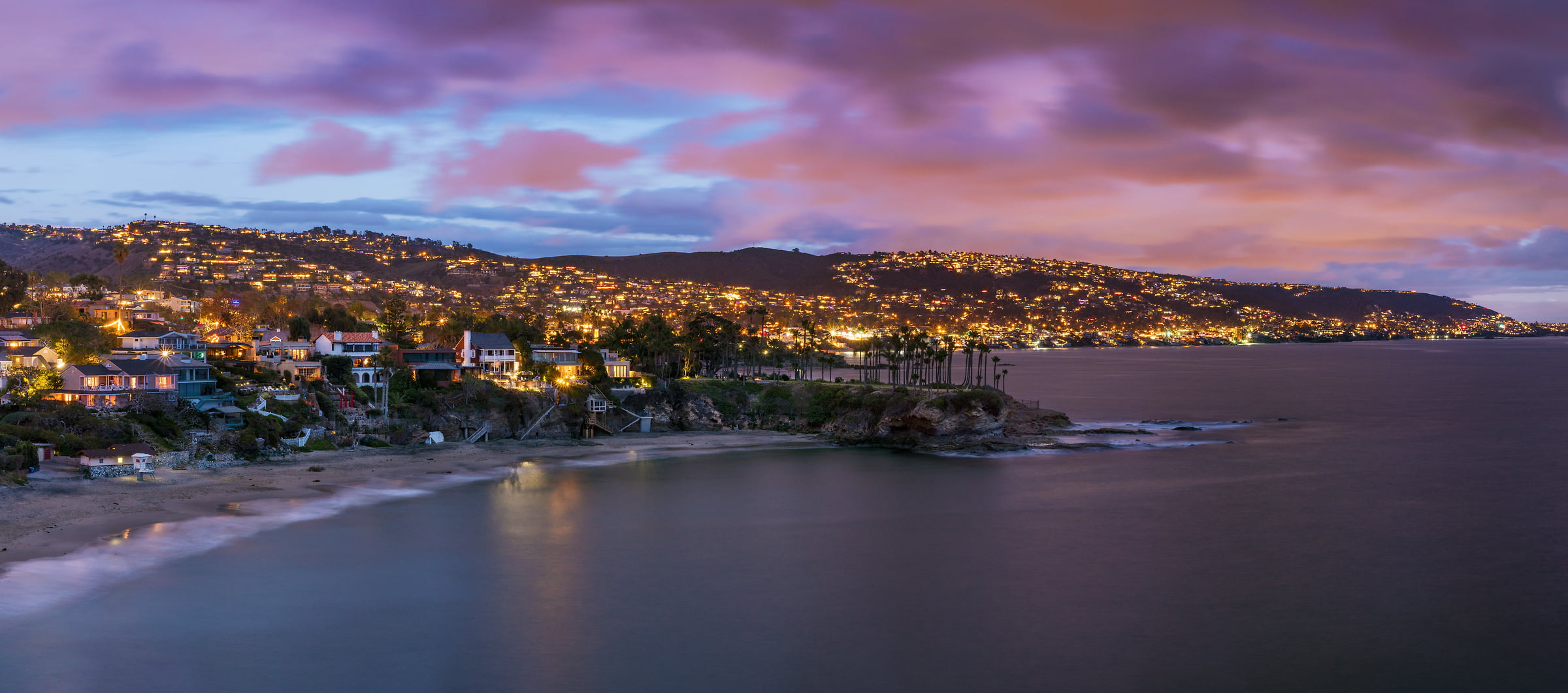 119 megapixels! A very high resolution, large-format VAST photo of Laguna Beach at sunset; landscape created by Jim Tarpo in California