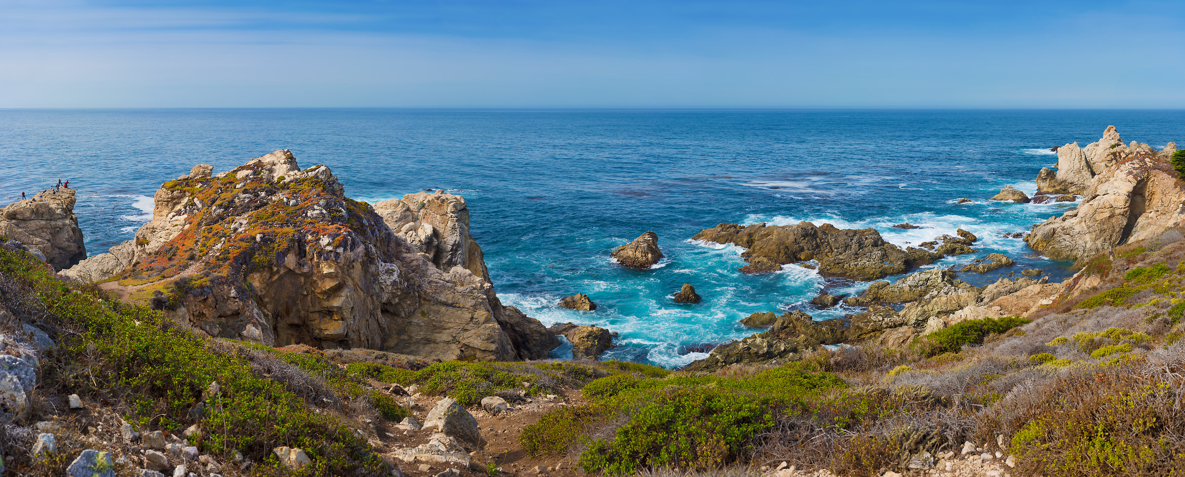 455 megapixels! A very high resolution, large-format VAST photo of an ocean coast; panorama photograph created by Jim Tarpo in Big Sur, California