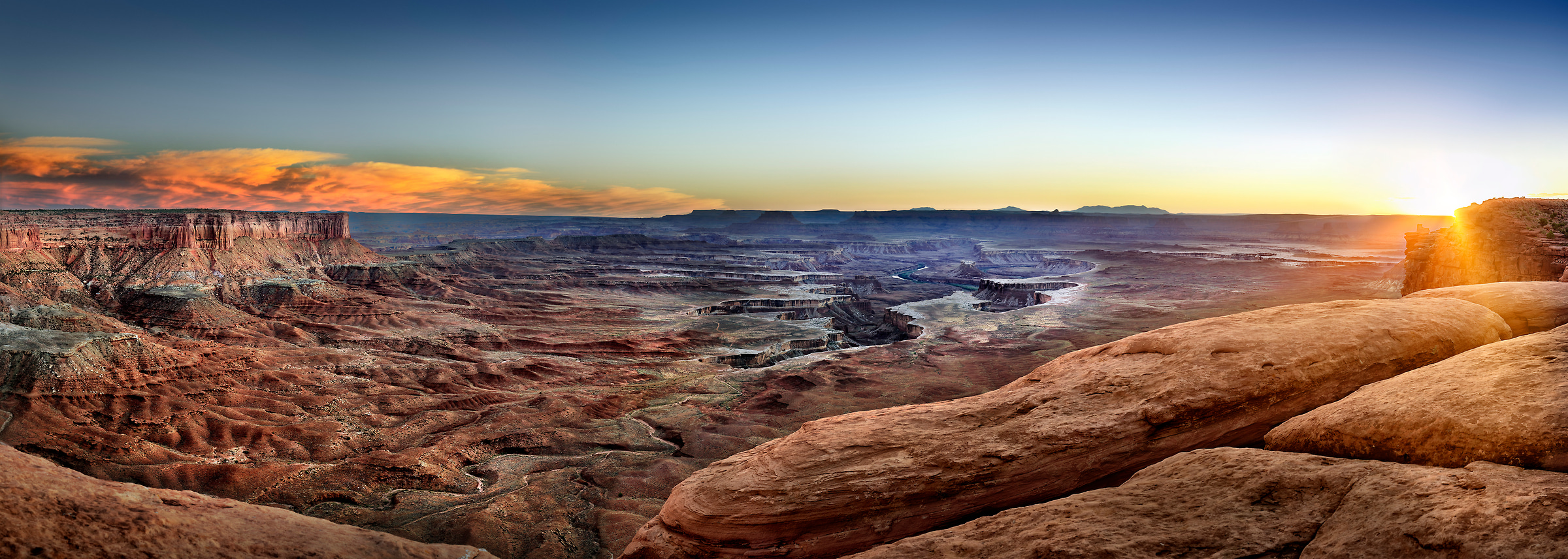 287 megapixels! A very high resolution panorama photo of Canyonlands National Park; VAST photo created by Phil Crawshay in Canyonlands National Park, Utah, USA