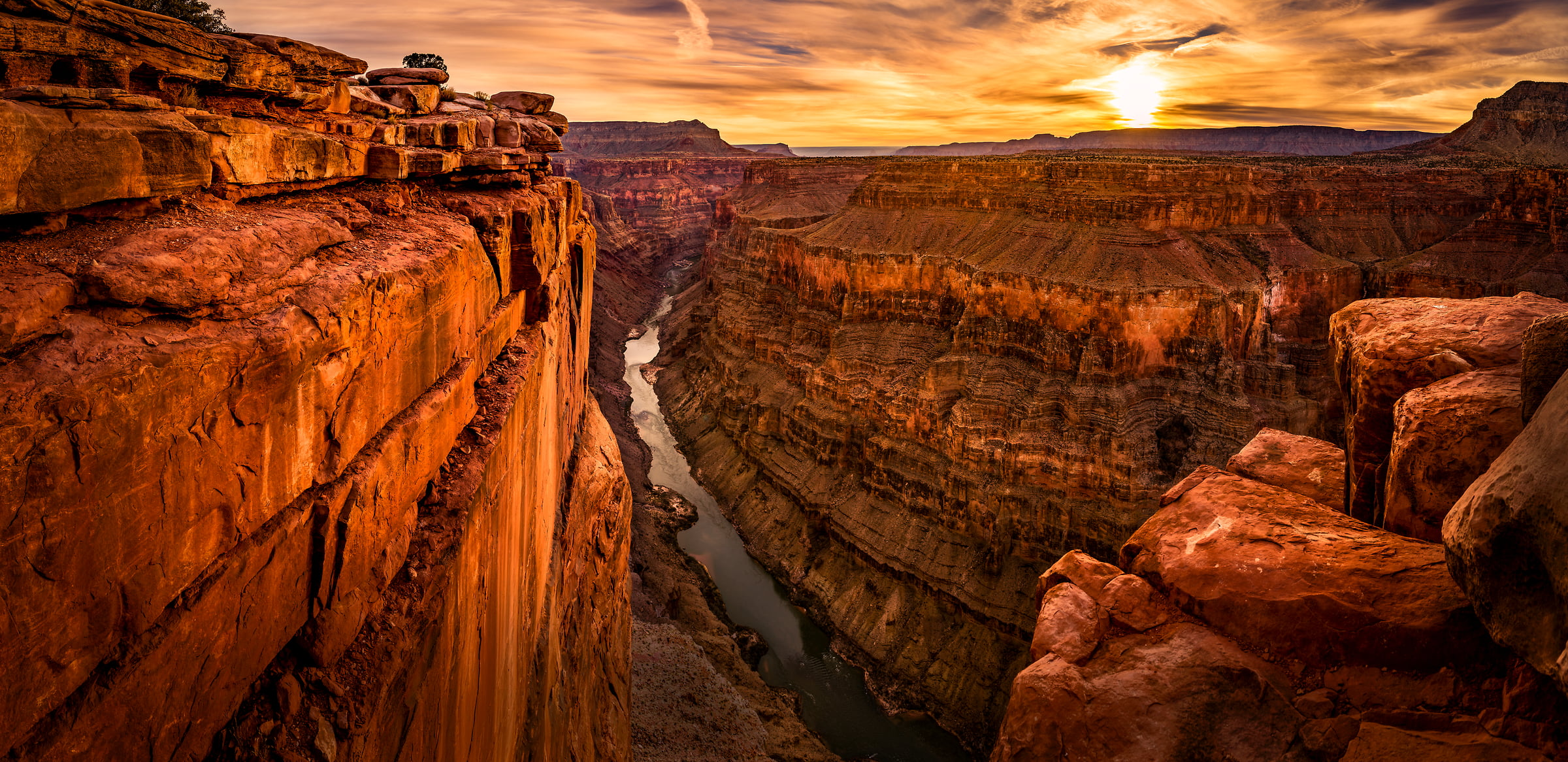 176 megapixels! A very high resolution, large-format VAST photo print of a canyon at sunset; landscape photograph created by Tim Shields in Grand Canyon National Park, Arizona, USA