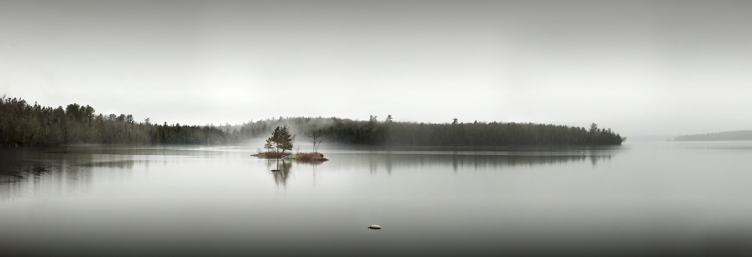 235 megapixels! A very high resolution, large-format VAST photo print of a peaceful lake scene; photograph created by Phil Crawshay in Umbagog Lake, New Hampshire