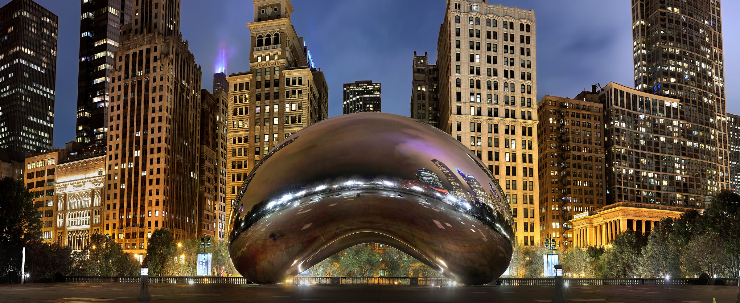 304 megapixels! A very high resolution, large-format VAST photo print of the Chicago Bean sculpture; photograph created by Phil Crawshay in Chicago, Illinois