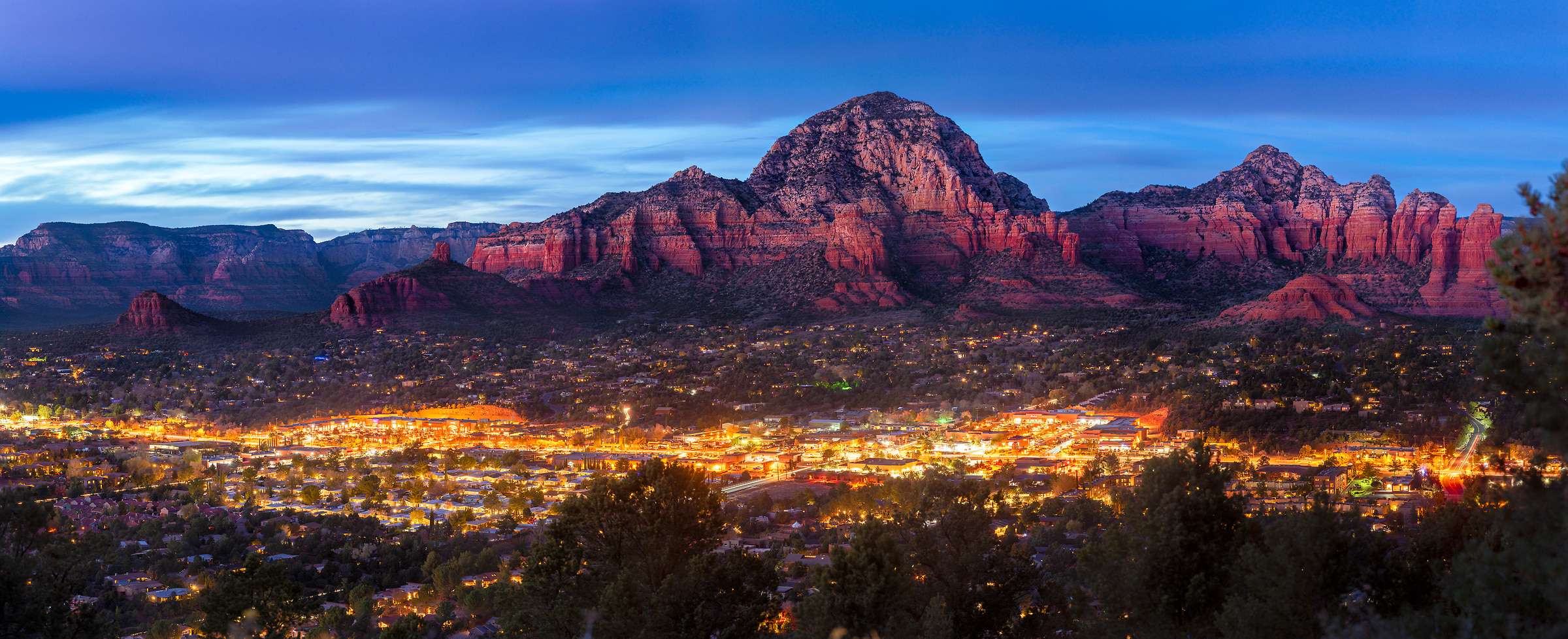 472 megapixels! A very high resolution, large-format VAST photo print of Sedona, Arizona; photograph created by Jim Tarpo
