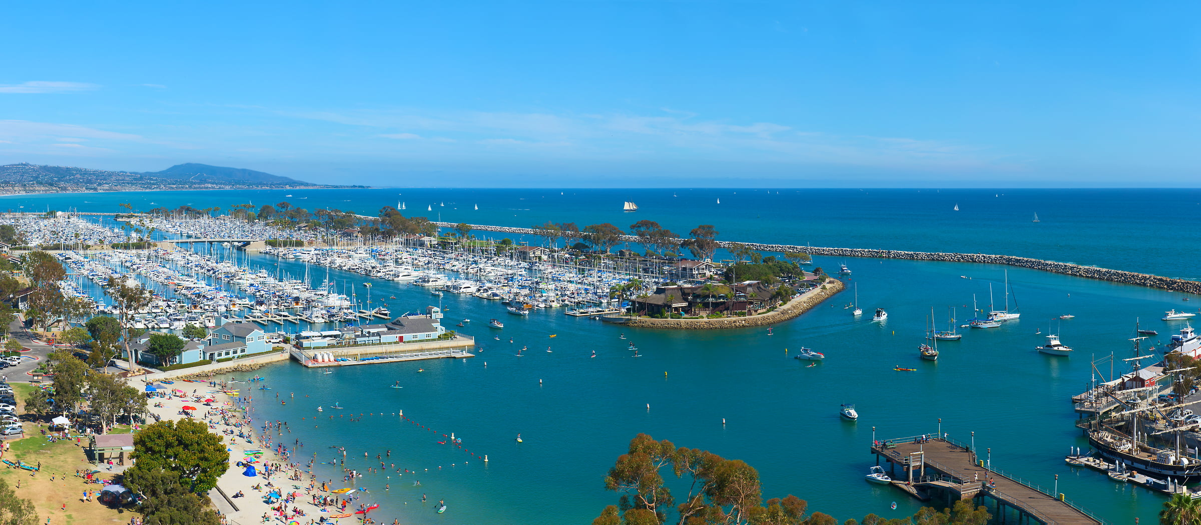 121 megapixels! A very high resolution, large-format VAST photo print of a marina with boats; seascape photograph created by Jim Tarpo in Dana Point, California