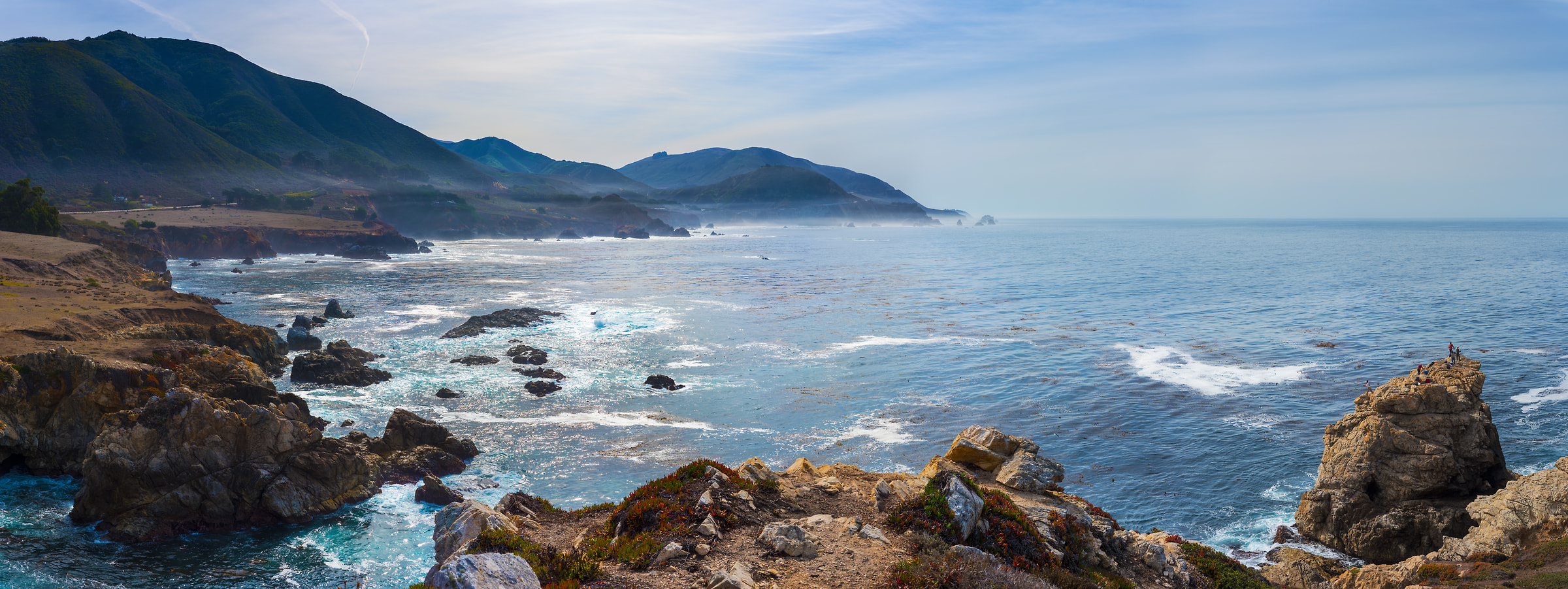 342 megapixels! A very high resolution, large-format VAST photo print of the Big Sur coastline and the Pacific Ocean; seascape photograph created by Jim Tarpo in Big Sur, California