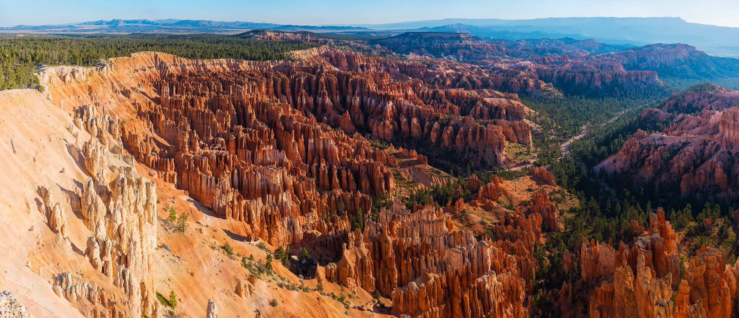 491 megapixels! A very high resolution, large-format VAST photo print of the American West; landscape panorama photograph created by Jim Tarpo in Bryce Canyon, Utah
