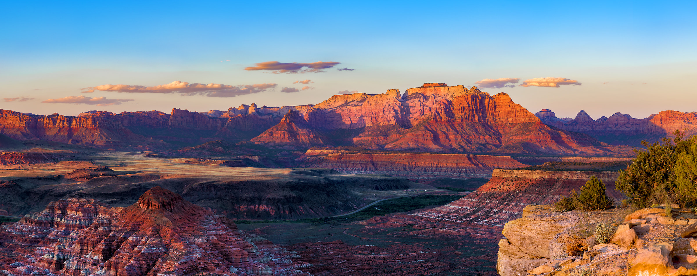 110 megapixels! A very high resolution, large-format VAST photo print of a Utah landscape; photograph created by Jim Tarpo in Zion National Park