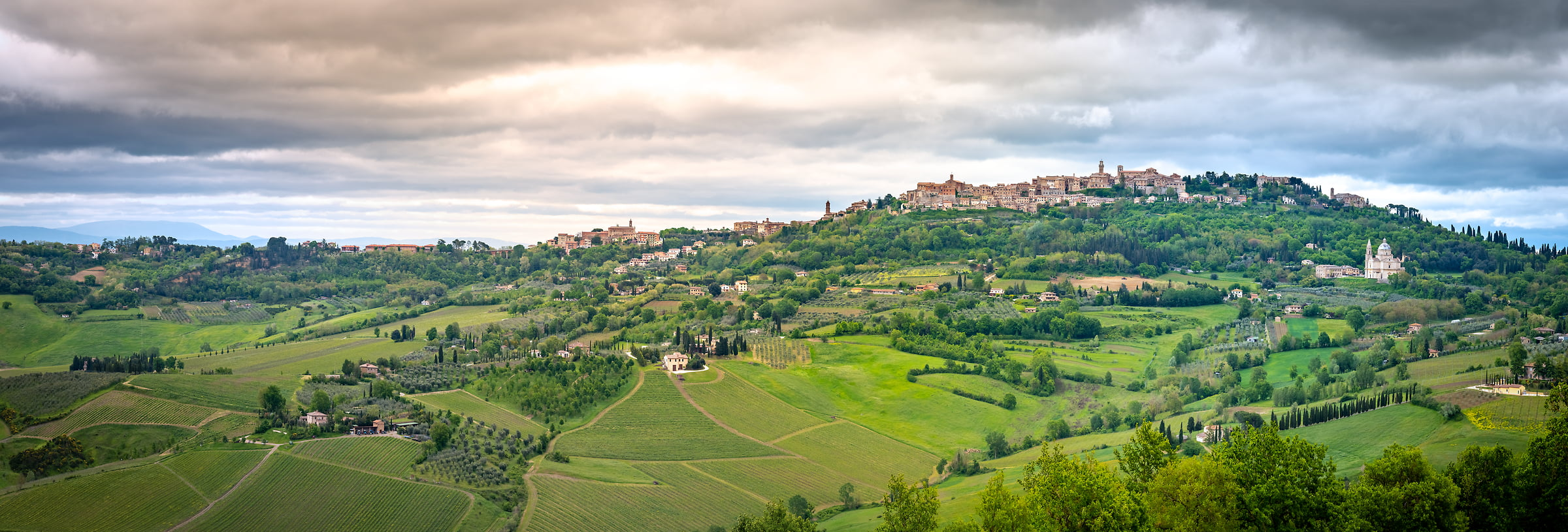 283 megapixels! A very high resolution, large-format VAST photo print of an Italian landscape; photograph created by Justin Katz in Montepulciano, Tuscany, Italy