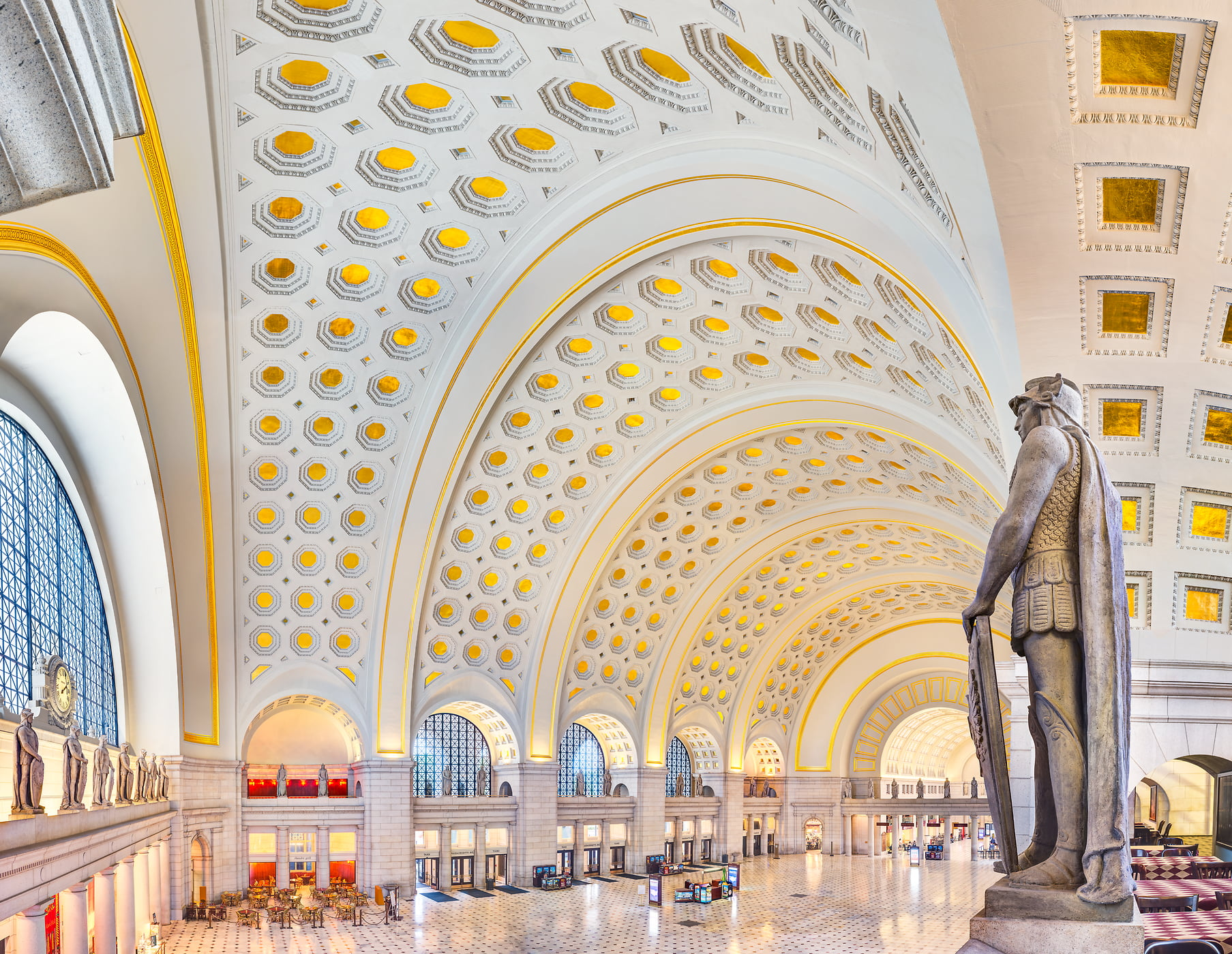2,128 megapixels! A very high resolution, large-format VAST photo print of Washington DC architecture; interior photograph created by Tim Lo Monaco in Main Hall at Union Station, Washington, D.C.