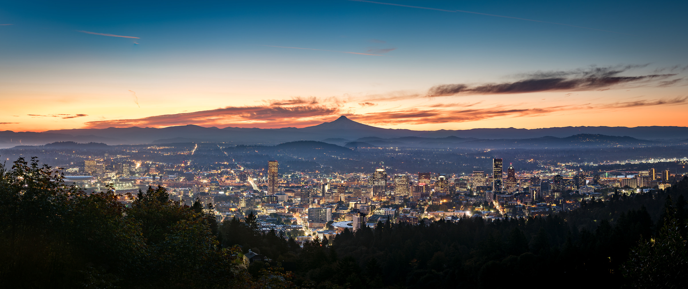 197 megapixels! A very high resolution, large-format VAST photo print of the Portland skyline; cityscape photograph created by Justin Katz in Portland, Oregon