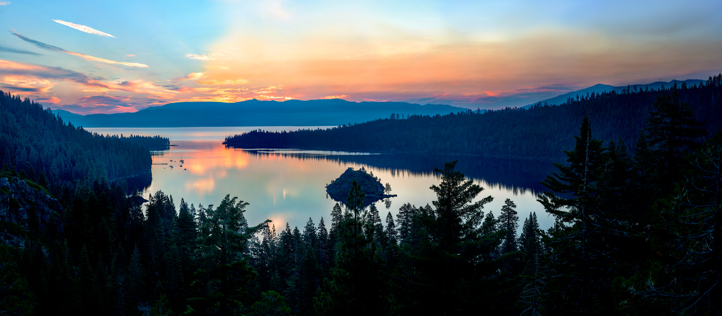 896 megapixels! A very high resolution, large-format VAST photo print of a lake; landscape photograph created by Justin Katz in Emerald Bay, Lake Tahoe, California