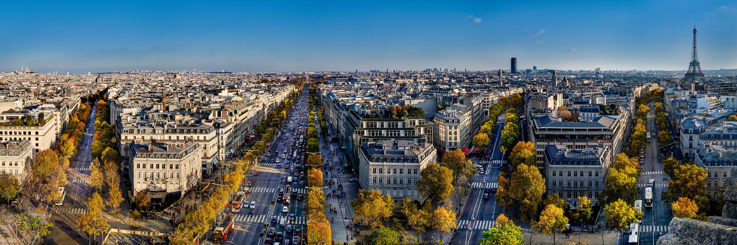 168 megapixels! A very high resolution, large-format VAST photo print of the Paris skyline; cityscape photograph created by Tim Lo Monaco at the Arc de Triomphe, Paris, France