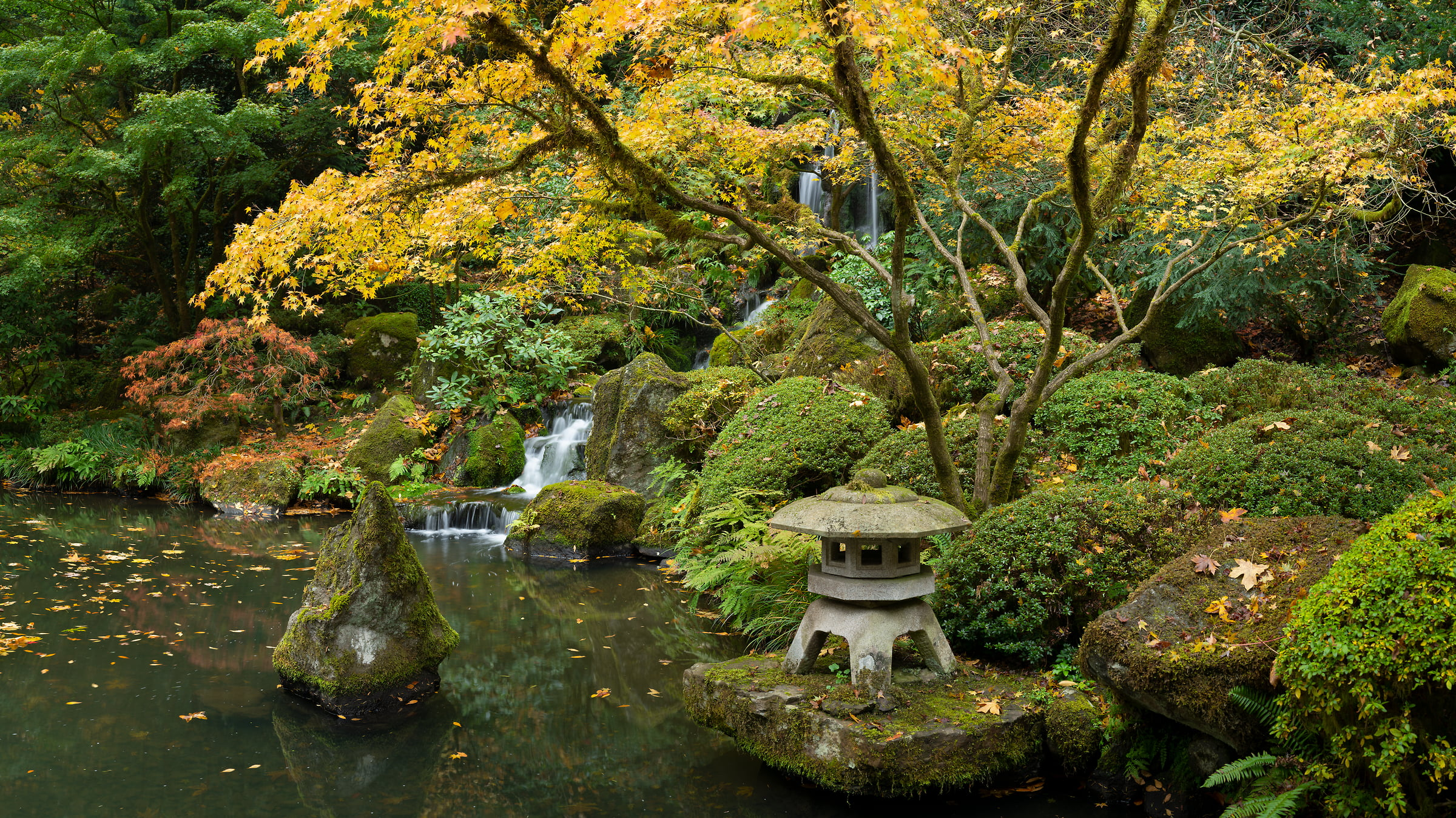 363 megapixels! A very high resolution, large-format VAST photo print of a zen Japanese garden; photograph created by Greg Probst in Portland Japanese Garden, Portland, Oregon