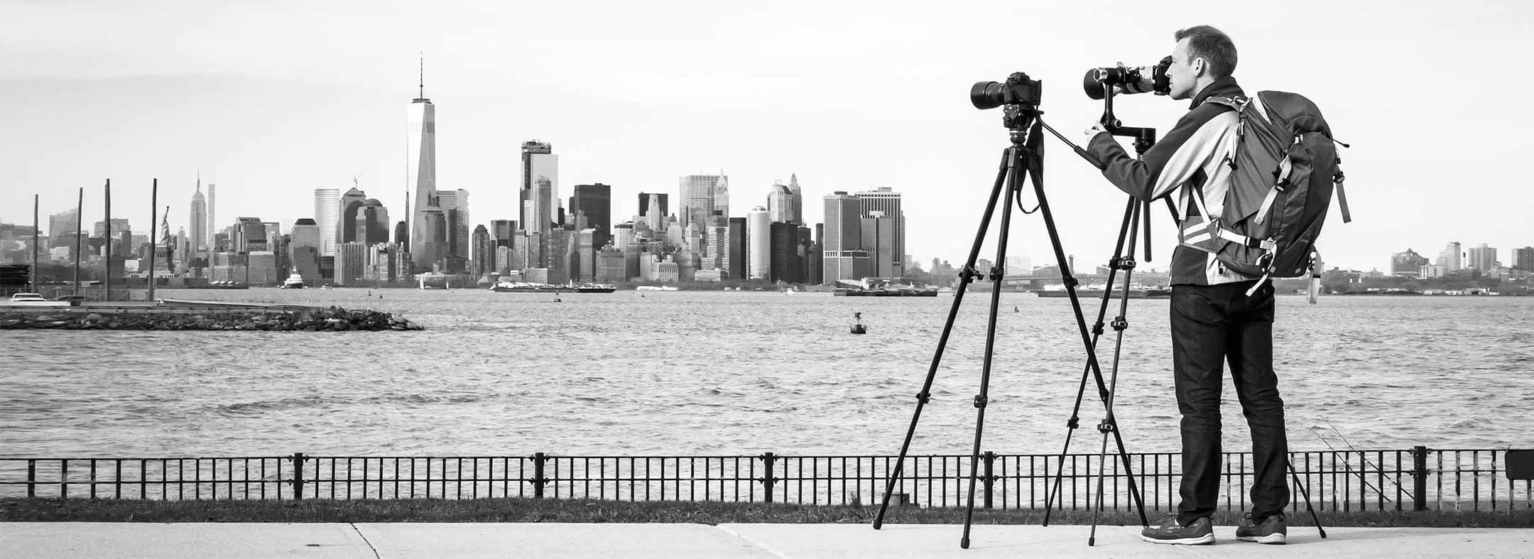 Portrait photo of Dan Piech, a VAST photographer artist creating very high resolution fine art photos of cityscapes and landscapes in New York City